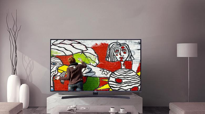 Sở hữu thiết kế đơn giản, nhưngSmart Tivi LG 4K 49 inch 49UM7400PTA mang hình dáng trang nhã