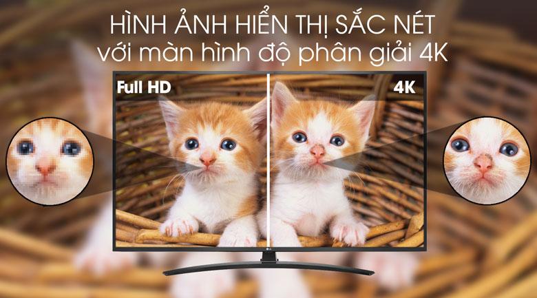 Smart Tivi LG 4K 49 inch 49UM7400PTA Hình ảnh4Kvới độ phân giải sắc nét gấp 4 lần độ phân giảiFull HD