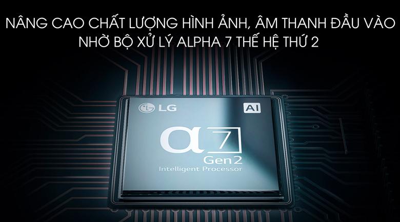 Smart Tivi LG 4K 65 inch 65SM9000PTA - bộ xử lý Alpha 7 thế hệ thứ 2