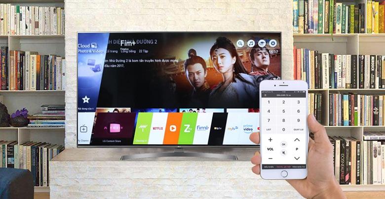 Điều khiển tivi bằng Smartphone - Smart Tivi LG 4K 65 inch 65SM9000PTA