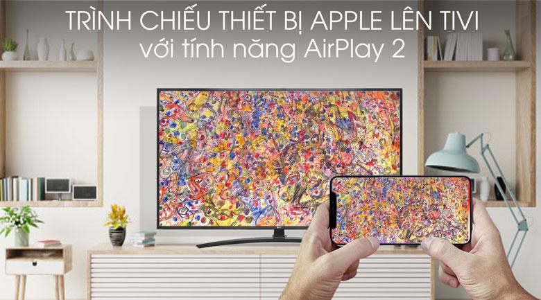 Trình chiếu nội dung màn hình thiết bị Apple (iPhone, iPad, Macbook) lên màn hình tivi với tính năng AirPlay 2