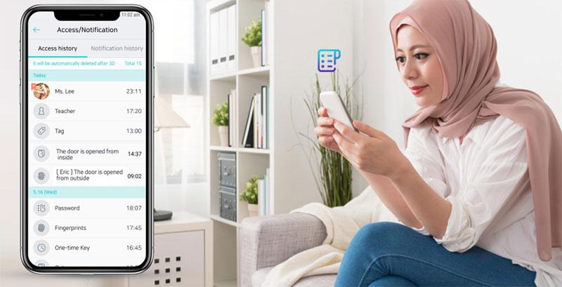 Khóa Samsung SHP-DP609AS/EN cho bạn biết ai sẽ biết ai ra/ vào nhà trong thời gian thực