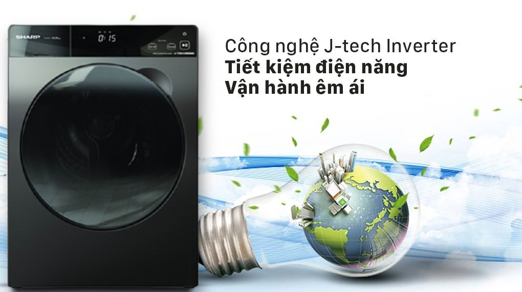 Máy giặt Sharp ES-FK1252SV-G Inverter 12.5 Kg (lồng ngang) 3