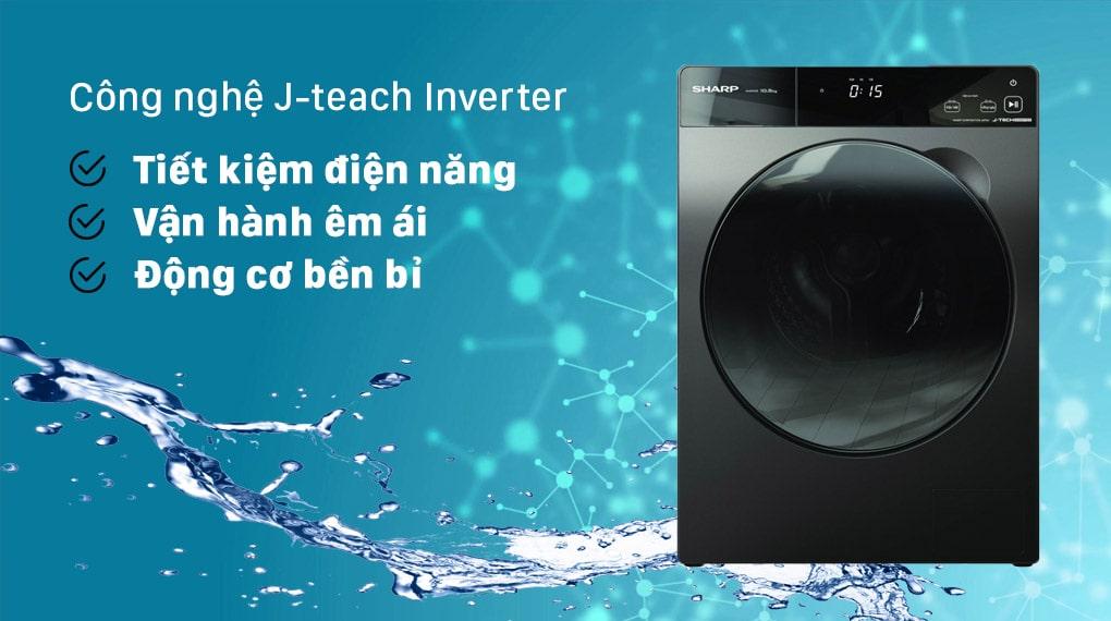 Máy giặt Sharp ES-FK1054PV-S Inverter 10.5 Kg (lồng ngang) 2