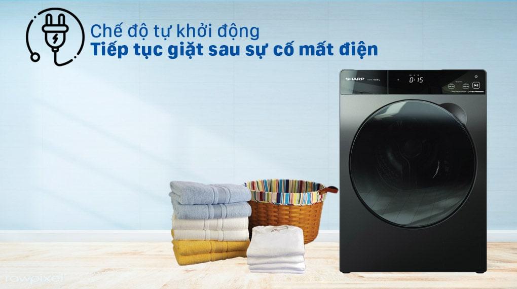 Máy giặt Sharp ES-FK1054PV-S Inverter 10.5 Kg (lồng ngang) 4