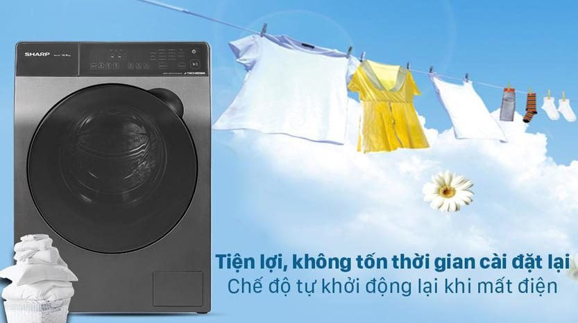 Máy giặt Sharp ES-FK1252PV-S Inverter 12.5 Kg (lồng ngang) 2