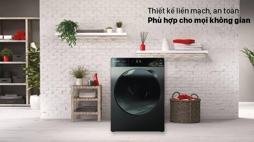 Máy giặt Sharp ES-FK1252PV-S Inverter 12.5 Kg (lồng ngang)
